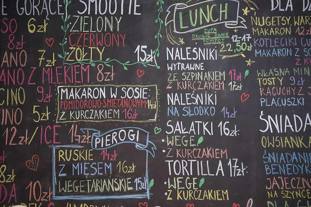 restauracja kredka - menu